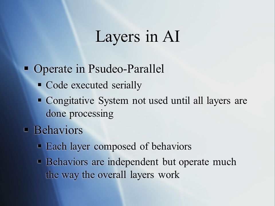 Layers in AI Operate in Psudeo-Parallel Behaviors