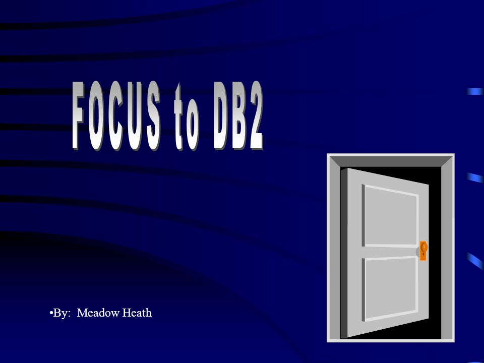 FOCUS to DB2 By: Meadow Heath