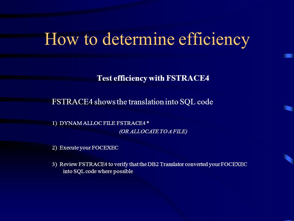 How to determine efficiency