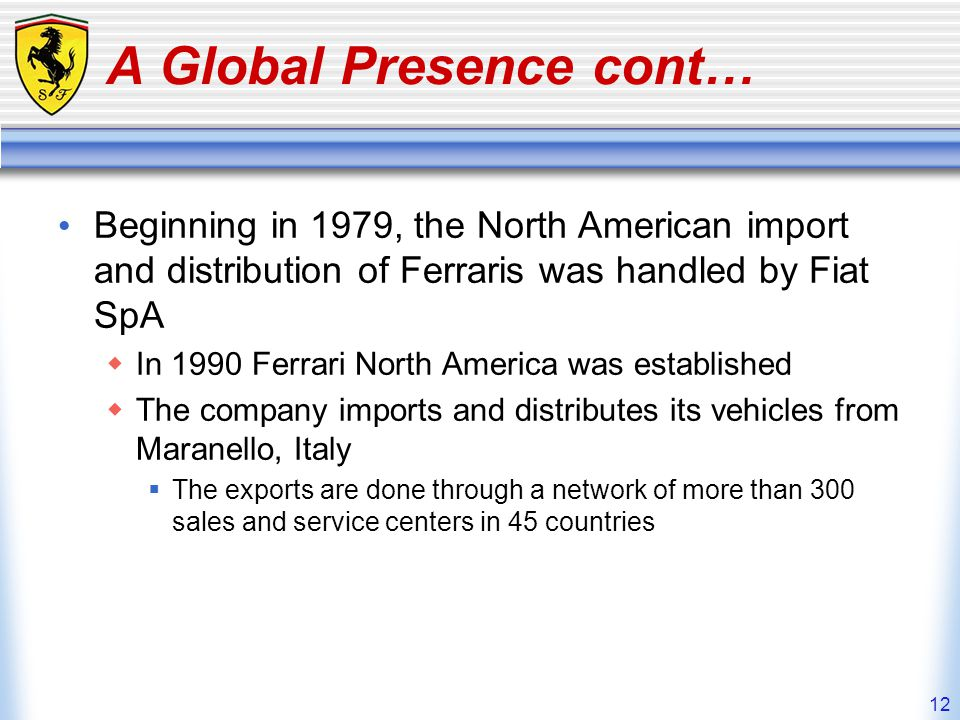 A Global Presence cont…