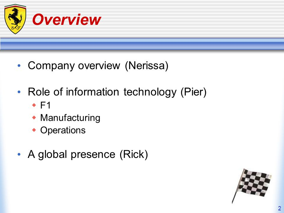 Overview Company overview (Nerissa)
