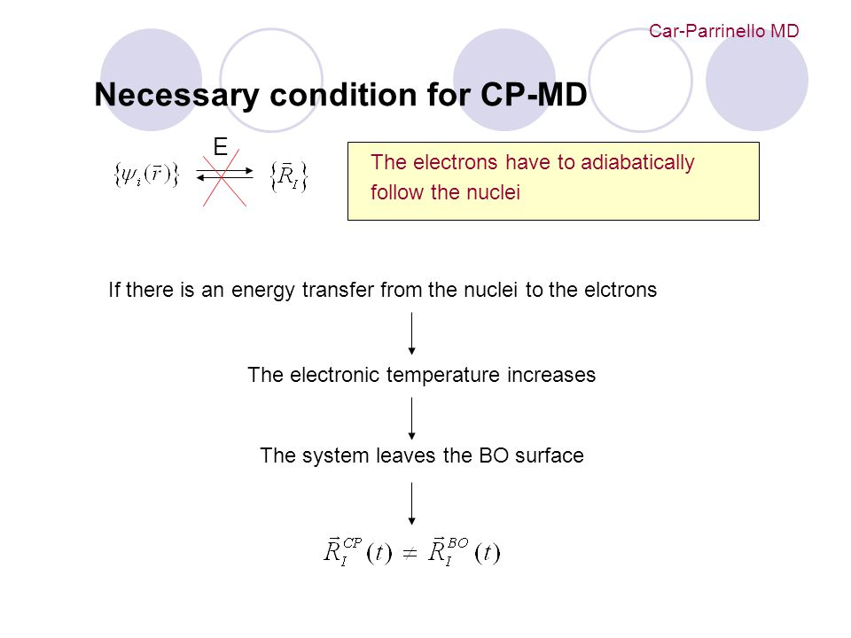 Necessary condition for CP-MD