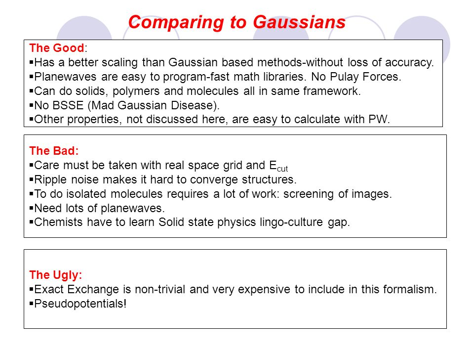 Comparing to Gaussians