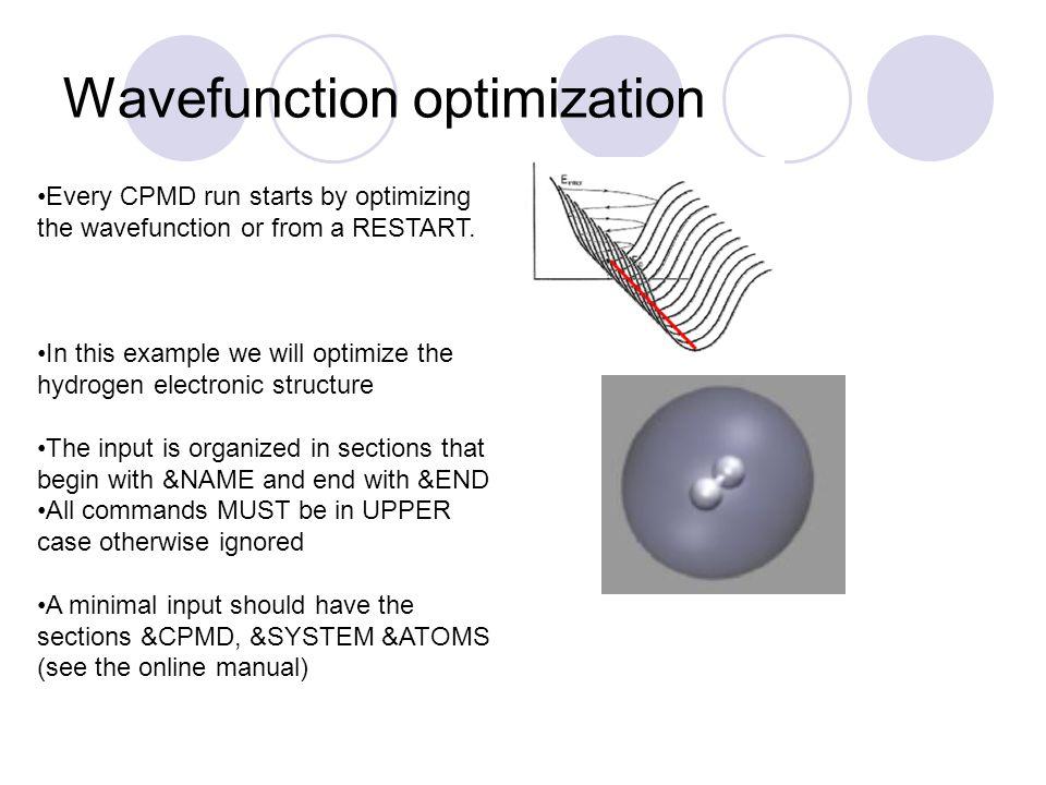 Wavefunction optimization