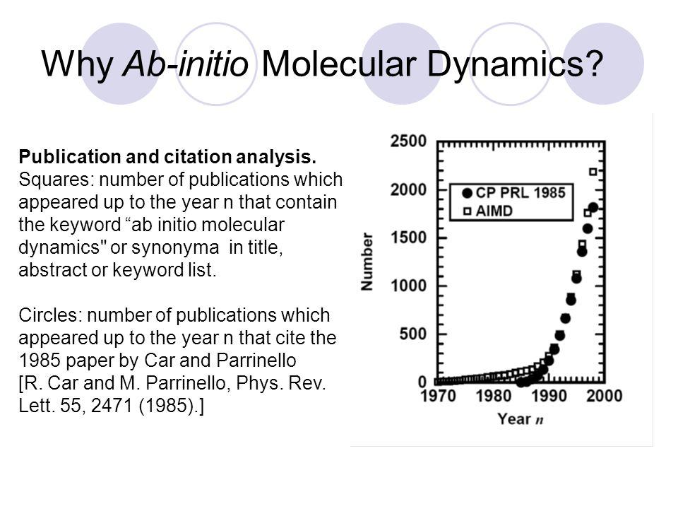 Why Ab-initio Molecular Dynamics