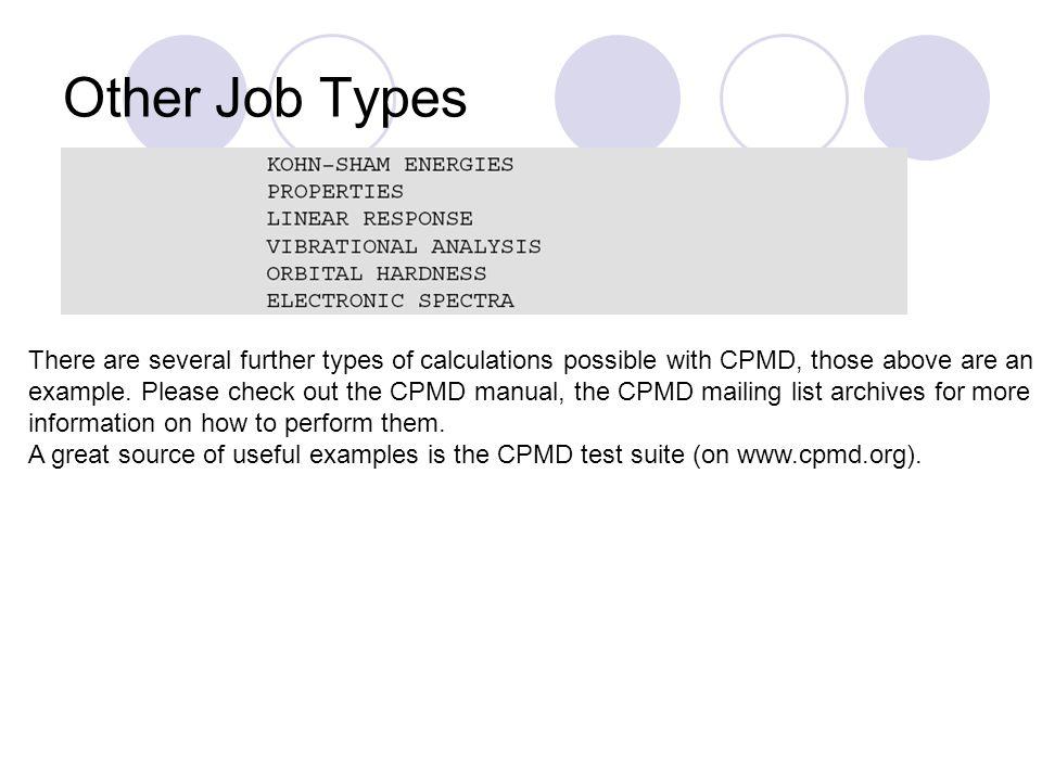 Other Job Types