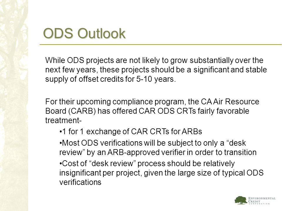 ODS Outlook