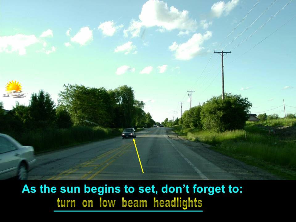 turn on low beam headlights