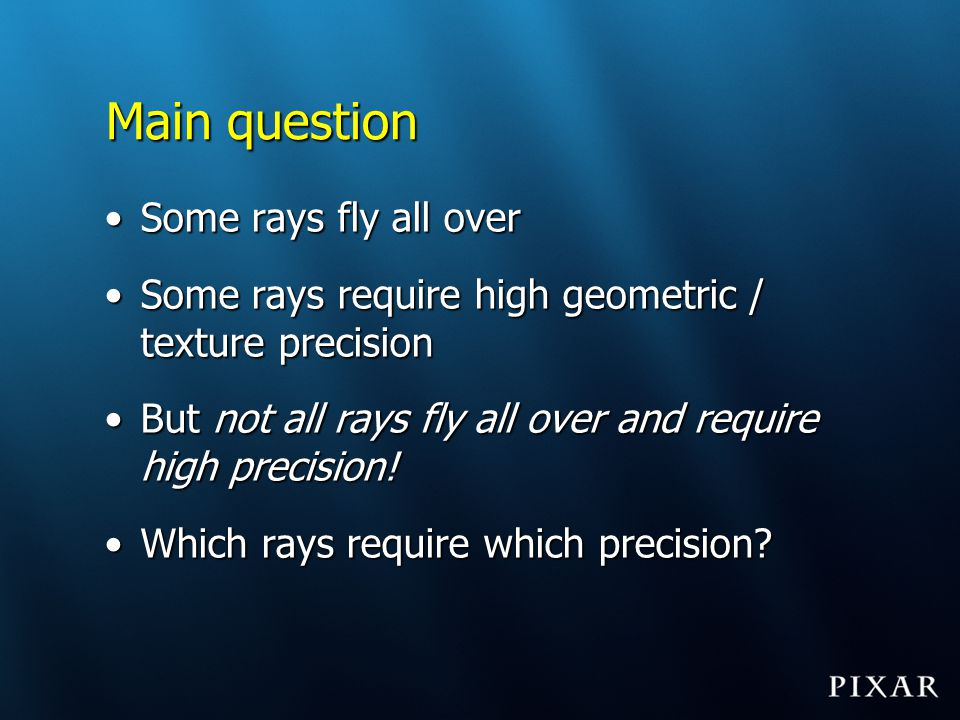 Main question Some rays fly all over