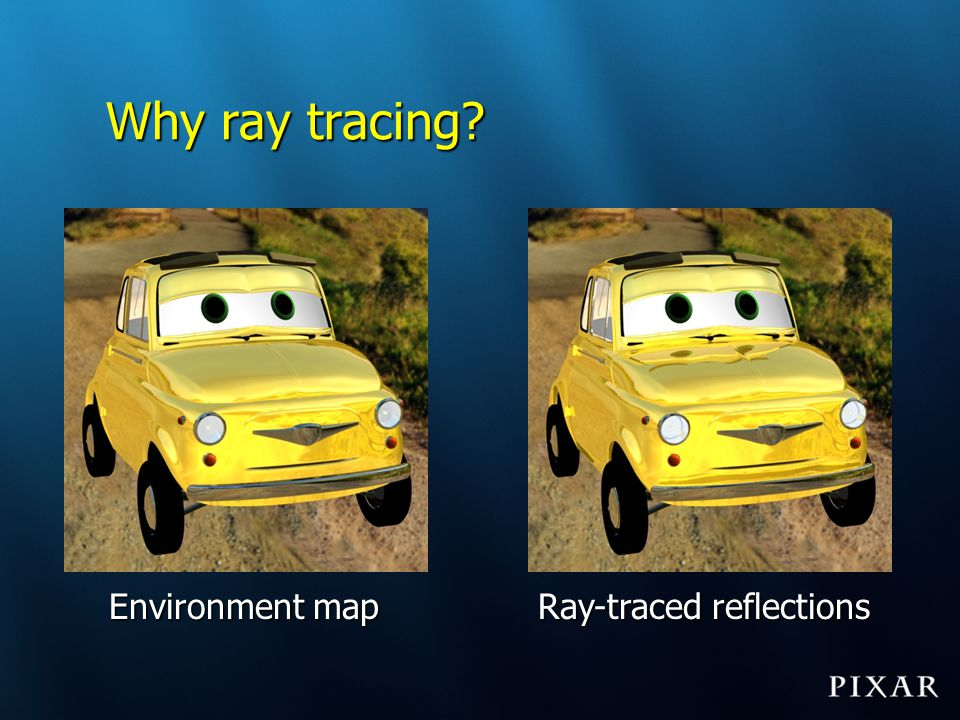Ray-traced reflections