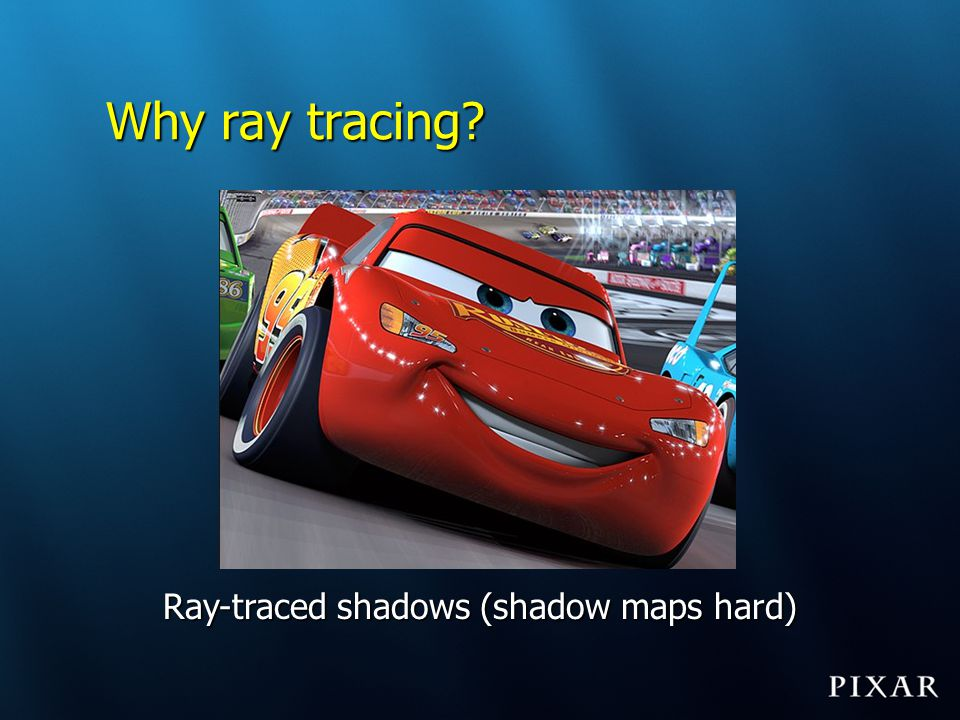 Ray-traced shadows (shadow maps hard)