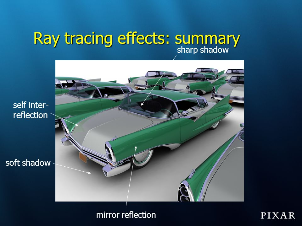 Ray tracing effects: summary