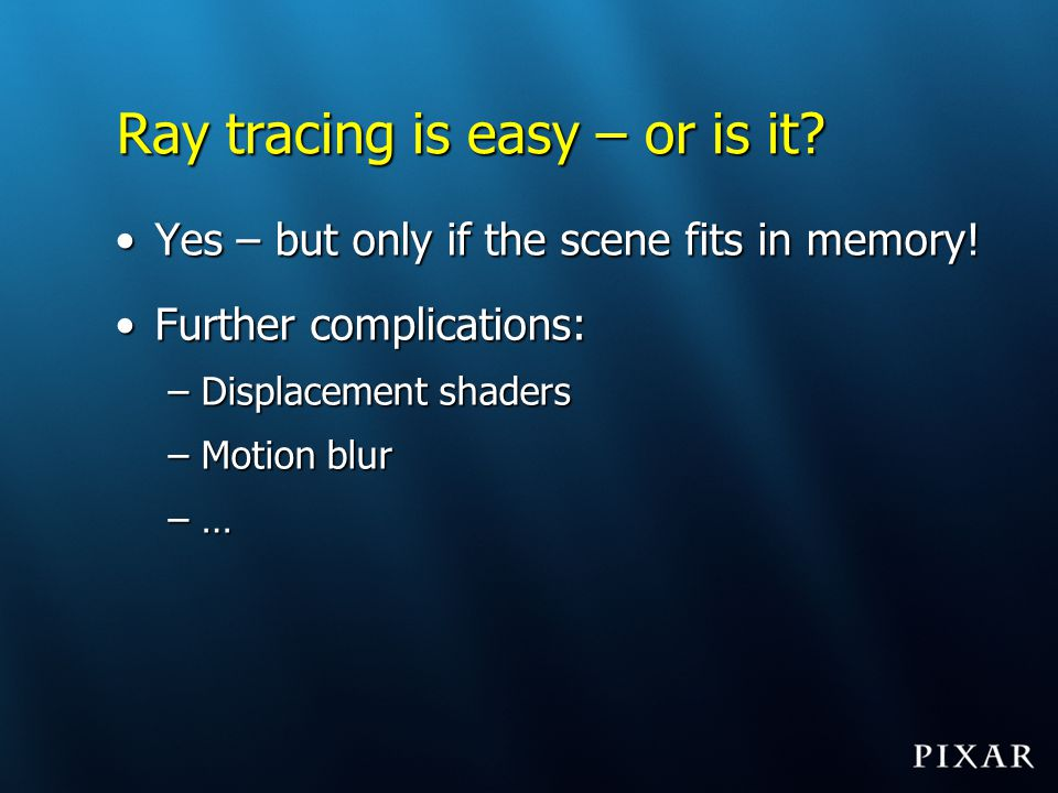 Ray tracing is easy – or is it