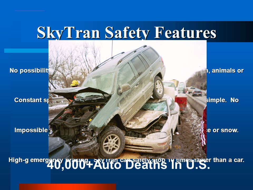 SkyTran Safety Features