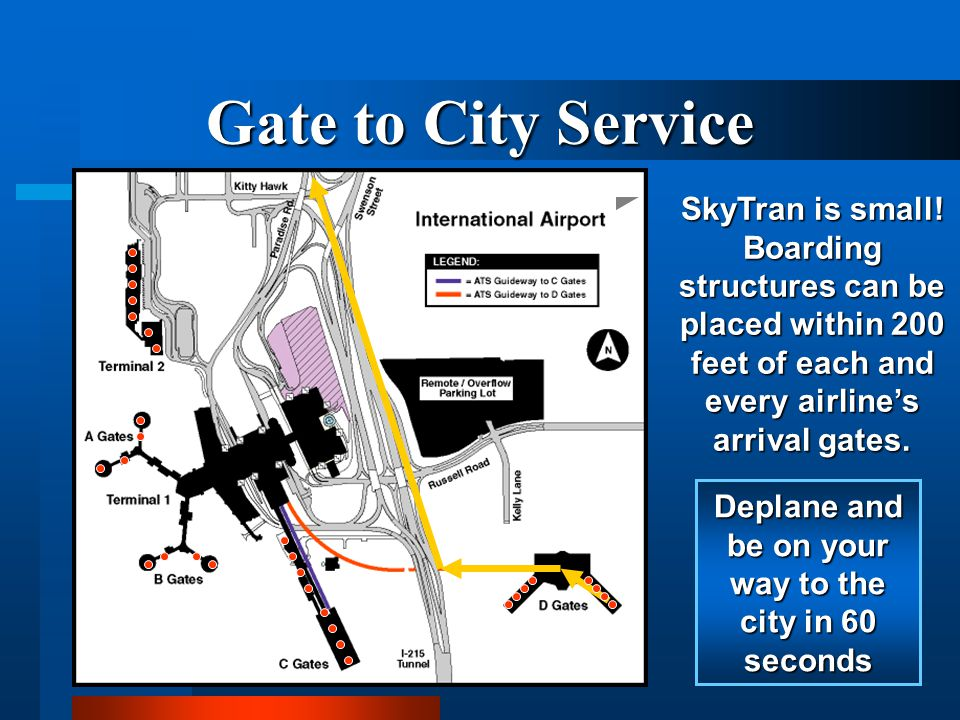 Show SD Airport connection to downtown or OR SANDEG priority route