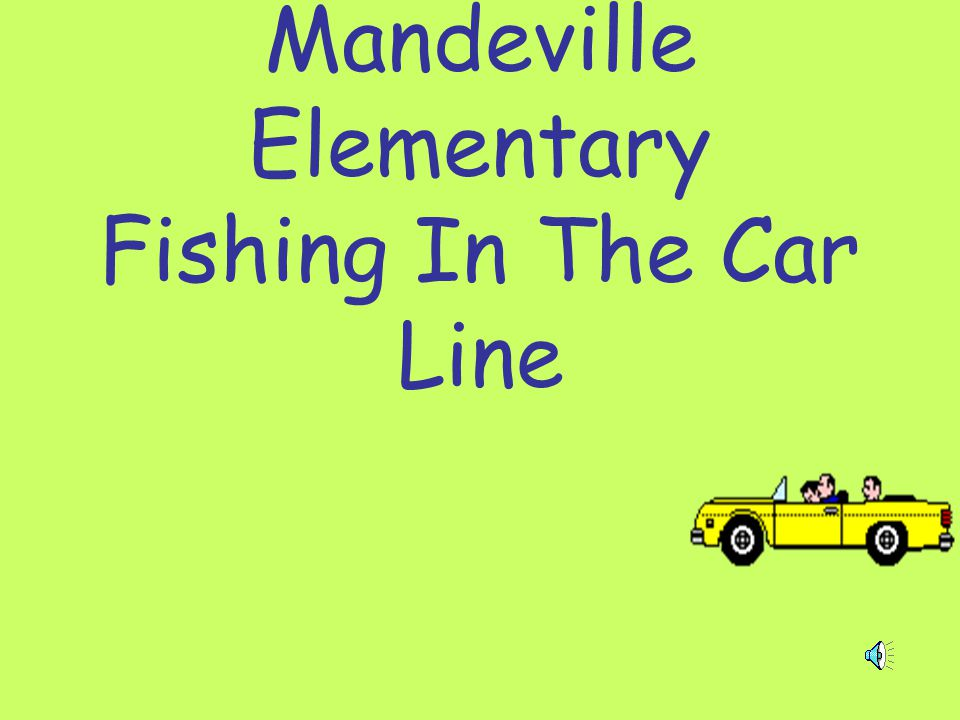 Mandeville Elementary Fishing In The Car Line