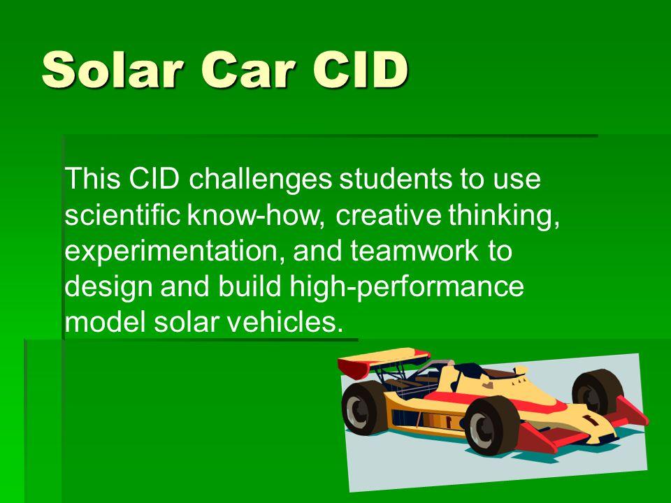 Solar Car CID