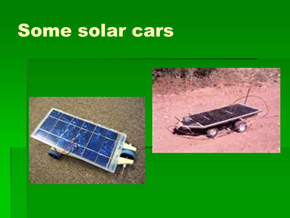 Some solar cars