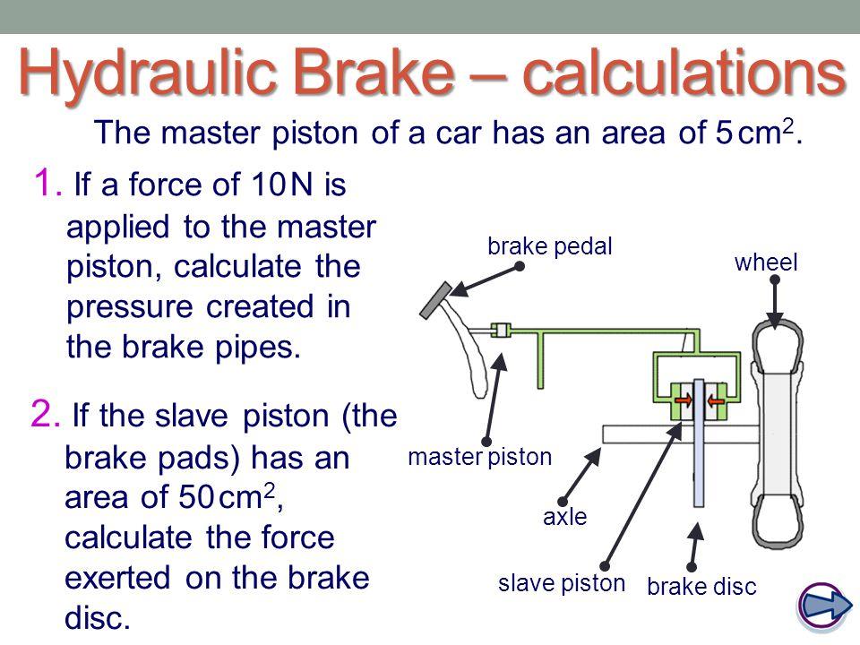 Hydraulic Brake – calculations
