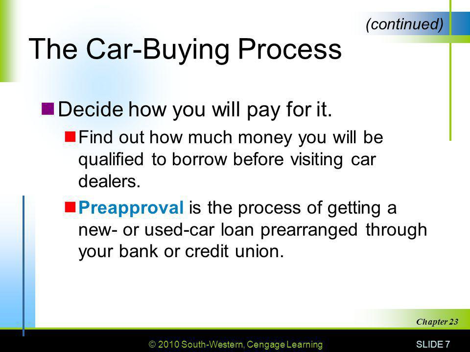 The Car-Buying Process