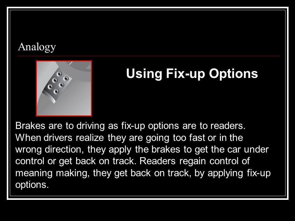 Using Fix-up Options Analogy