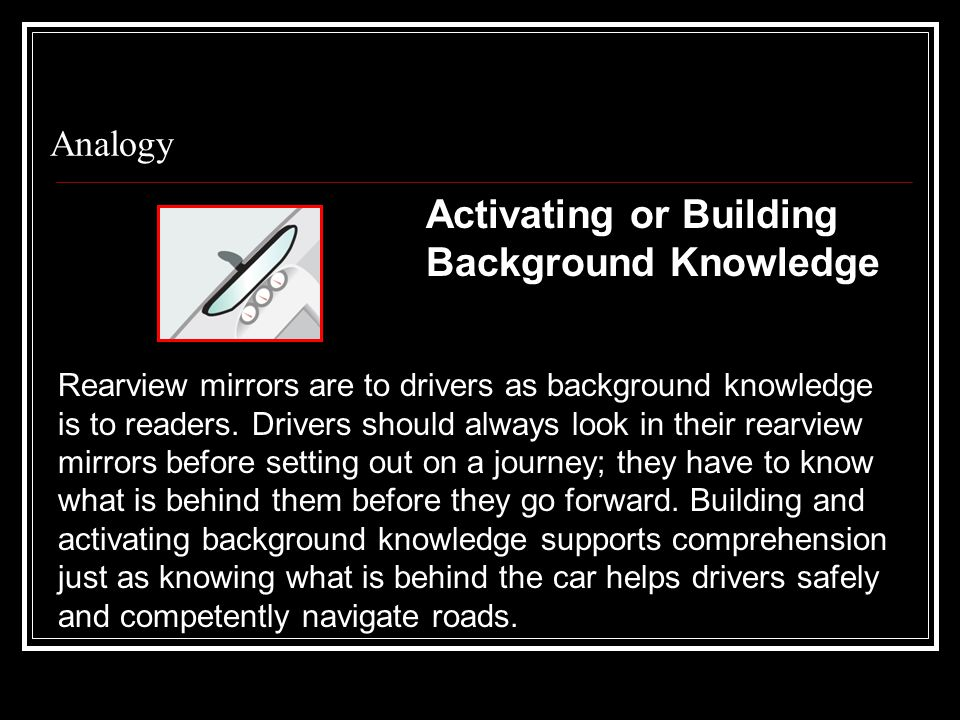 Activating or Building Background Knowledge