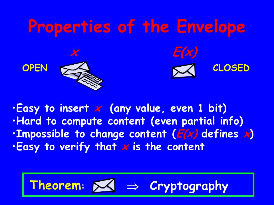 Properties of the Envelope