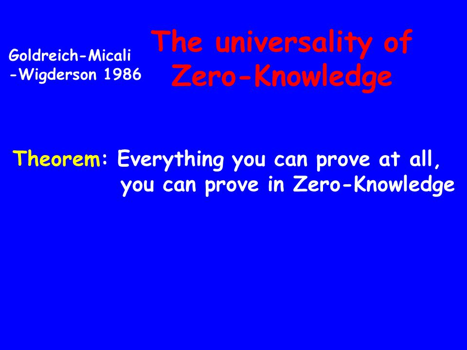 The universality of Zero-Knowledge