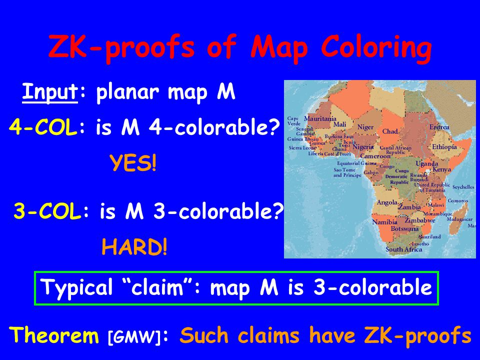 ZK-proofs of Map Coloring
