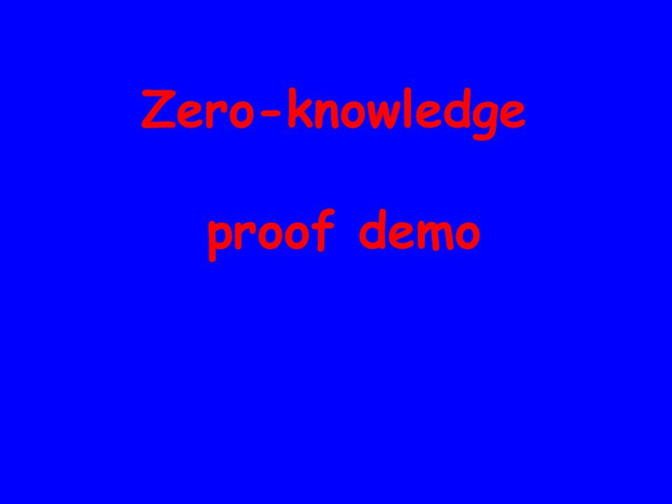 Zero-knowledge proof demo