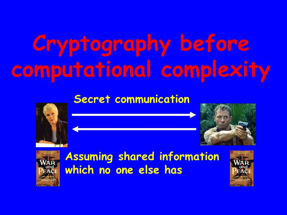 Cryptography before computational complexity