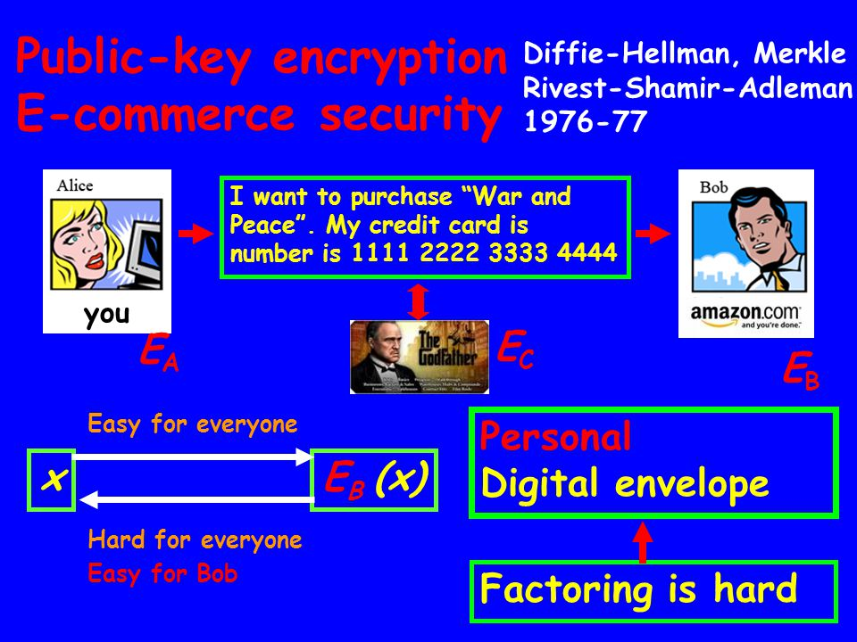 Public-key encryption E-commerce security