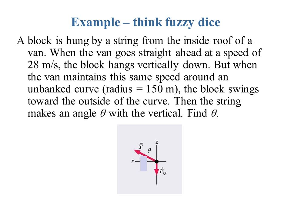 Example – think fuzzy dice