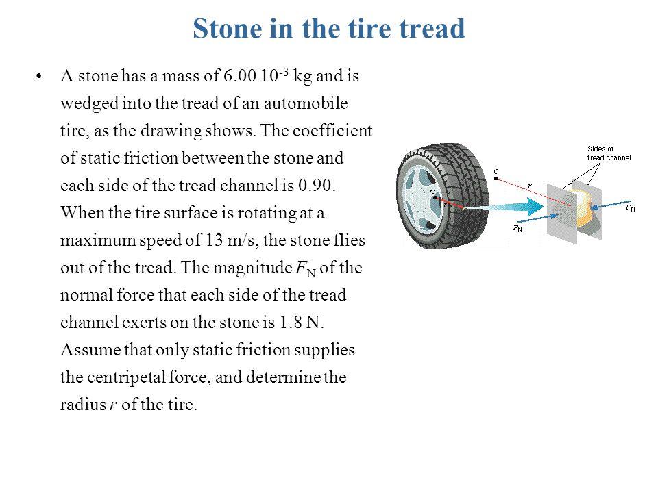 Stone in the tire tread
