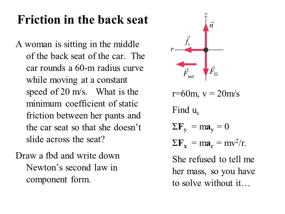 Friction in the back seat