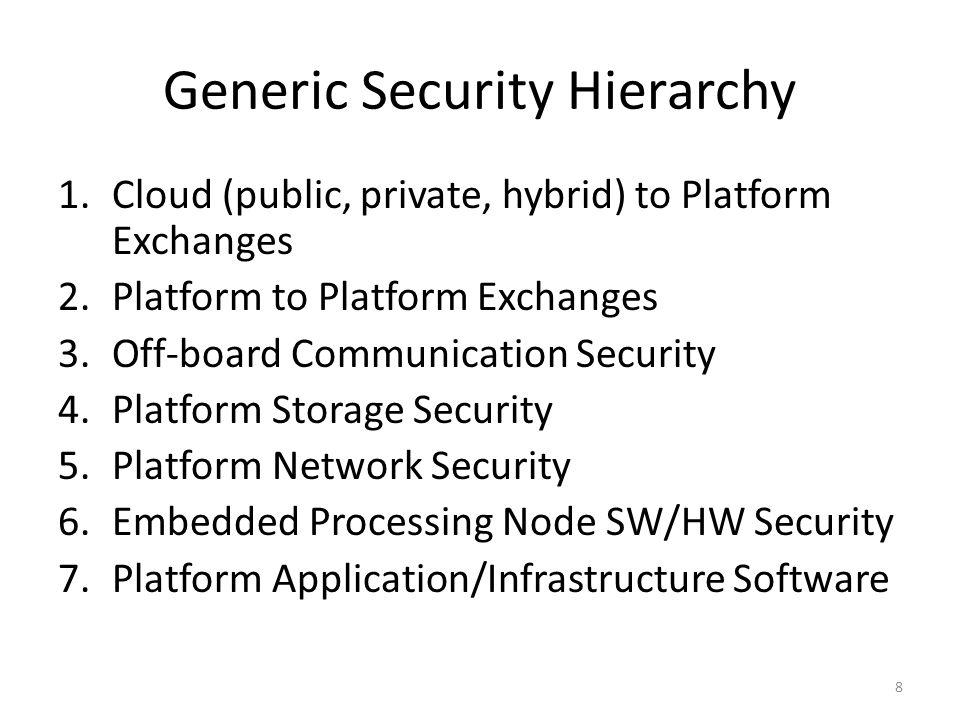 Generic Security Hierarchy