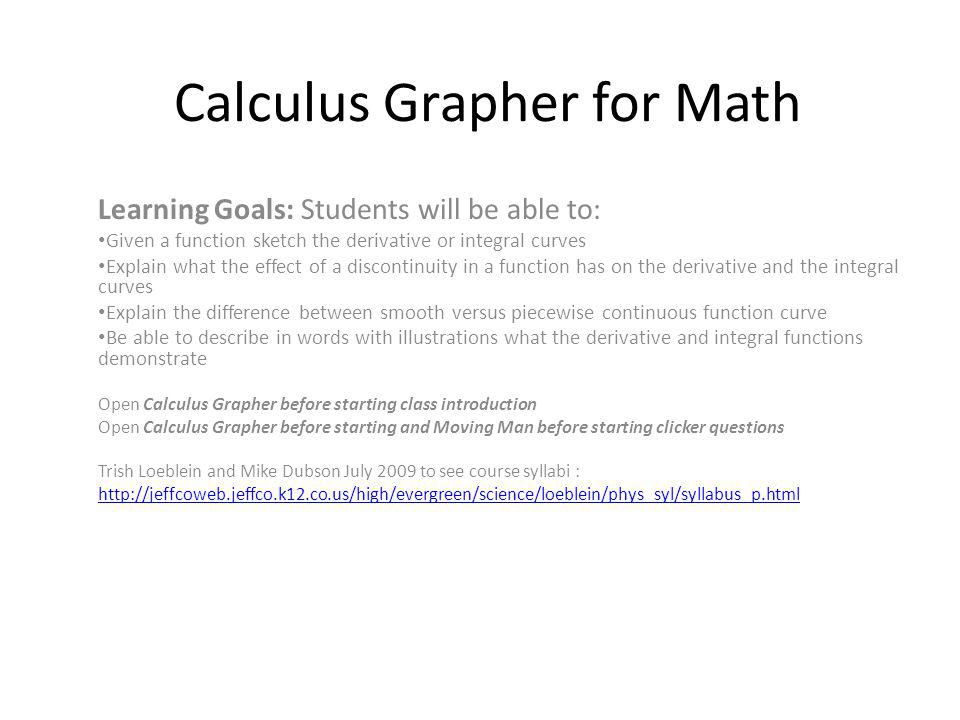 Calculus Grapher for Math