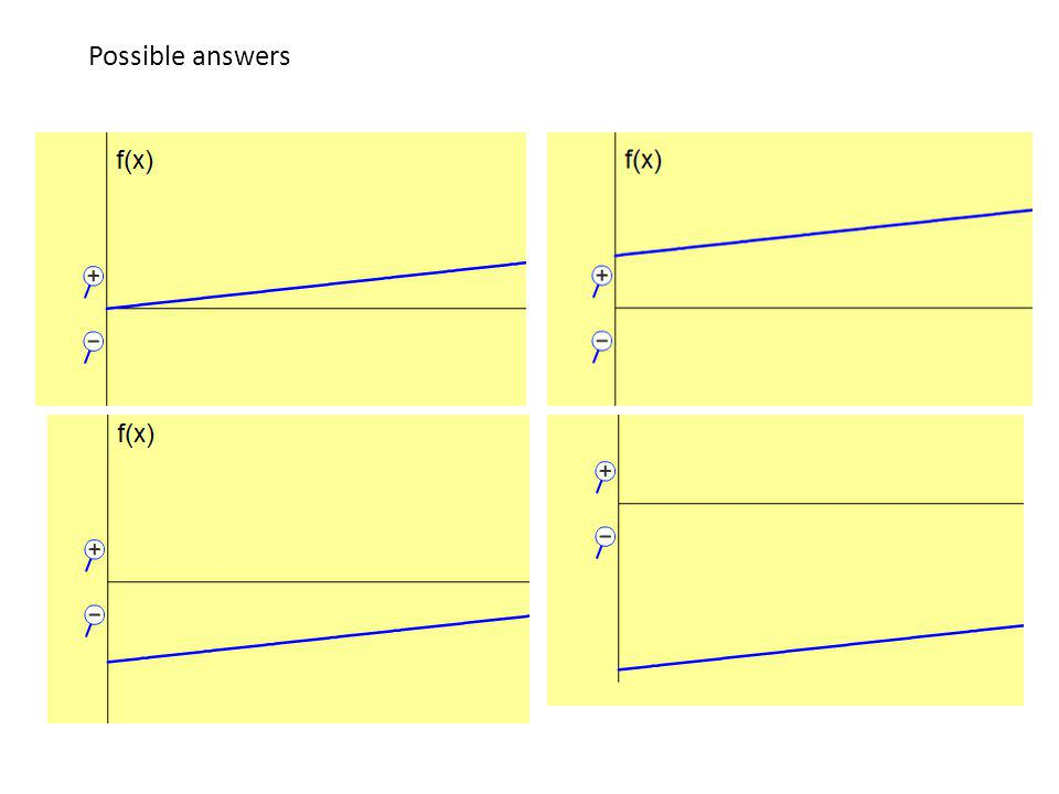 Possible answers This would be better demonstrated using the simulation.