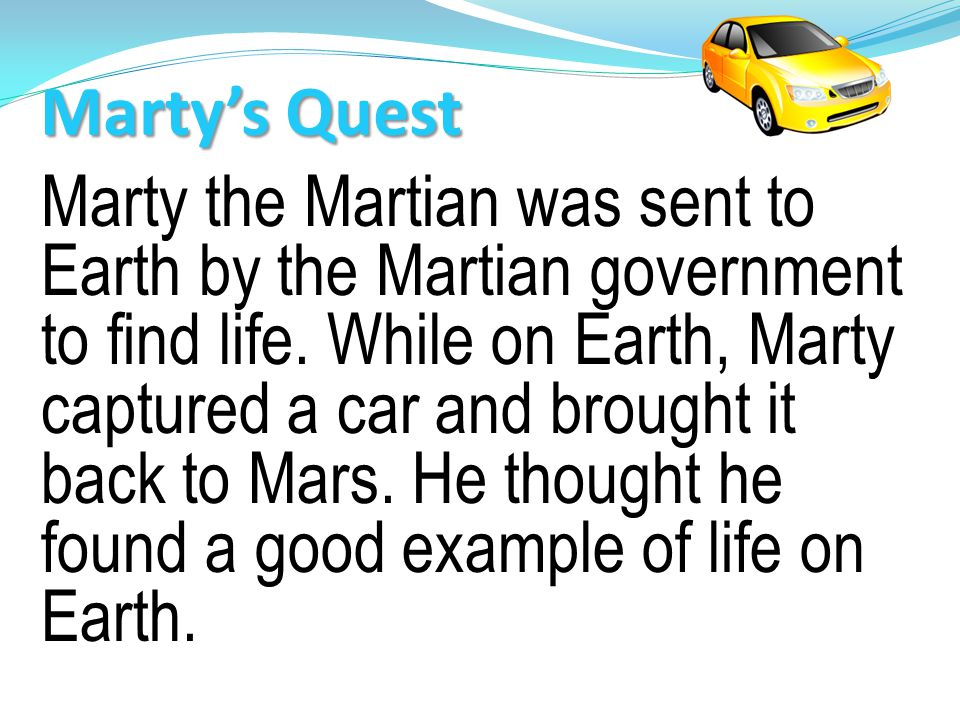 Marty's Quest