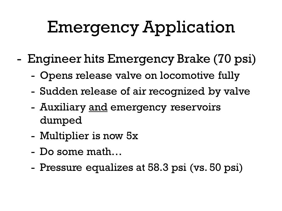 Emergency Application