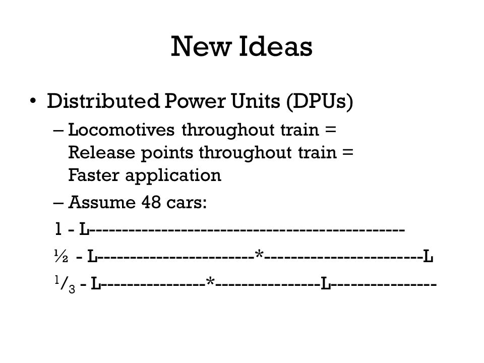 New Ideas Distributed Power Units (DPUs)