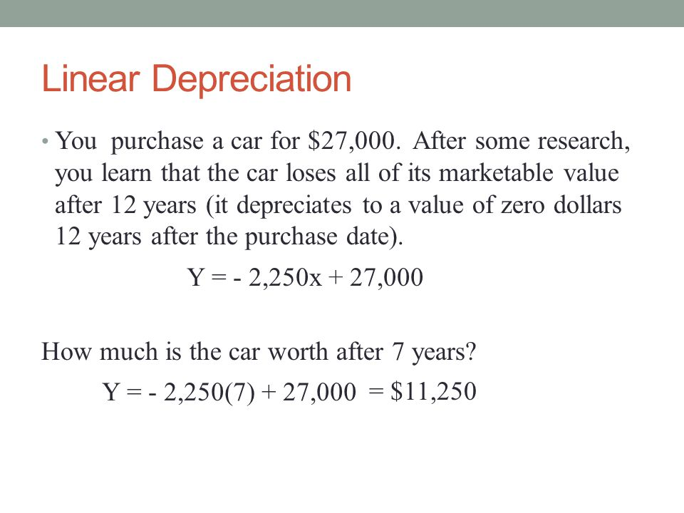 Linear Depreciation