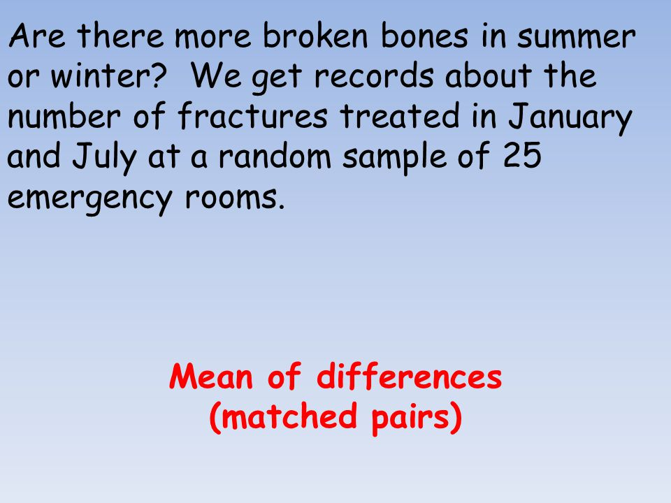 Are there more broken bones in summer or winter