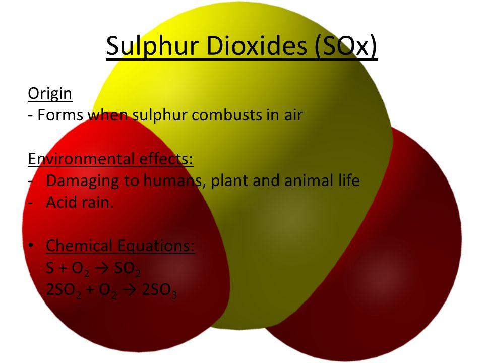 Sulphur Dioxides (SOx)