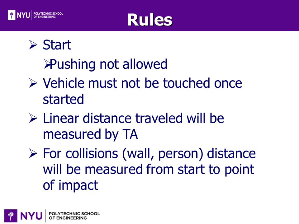 Rules Start Pushing not allowed