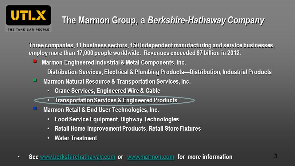 The Marmon Group, a Berkshire-Hathaway Company