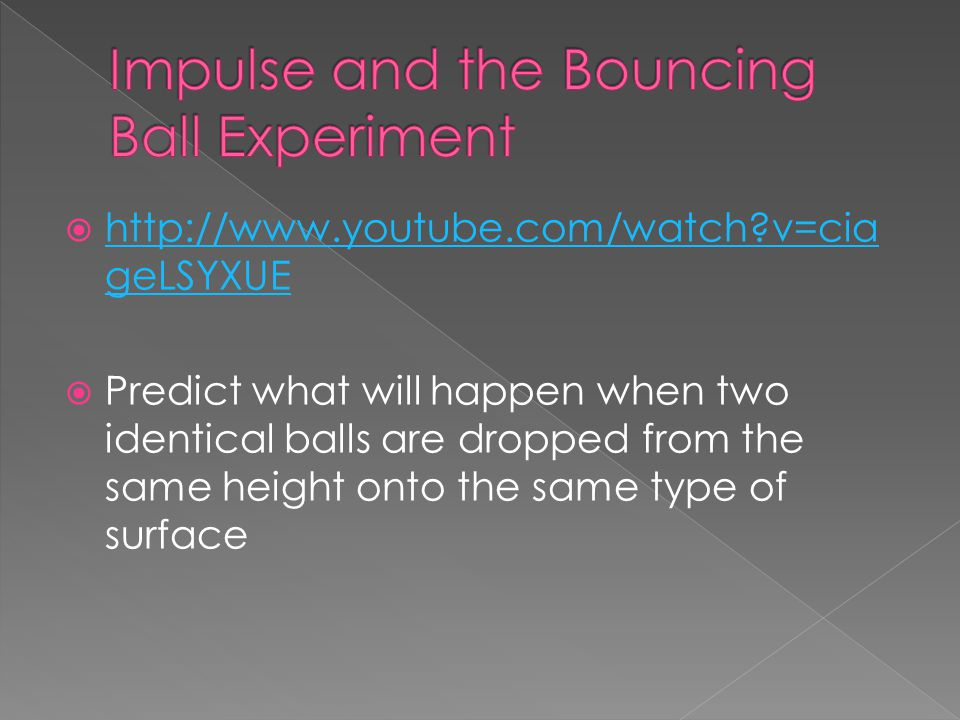Impulse and the Bouncing Ball Experiment