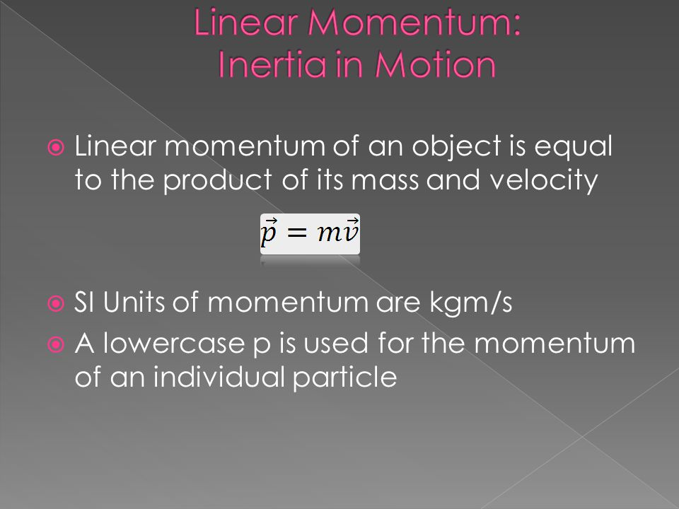 Linear Momentum: Inertia in Motion