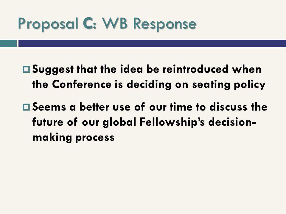 Proposal C: WB Response
