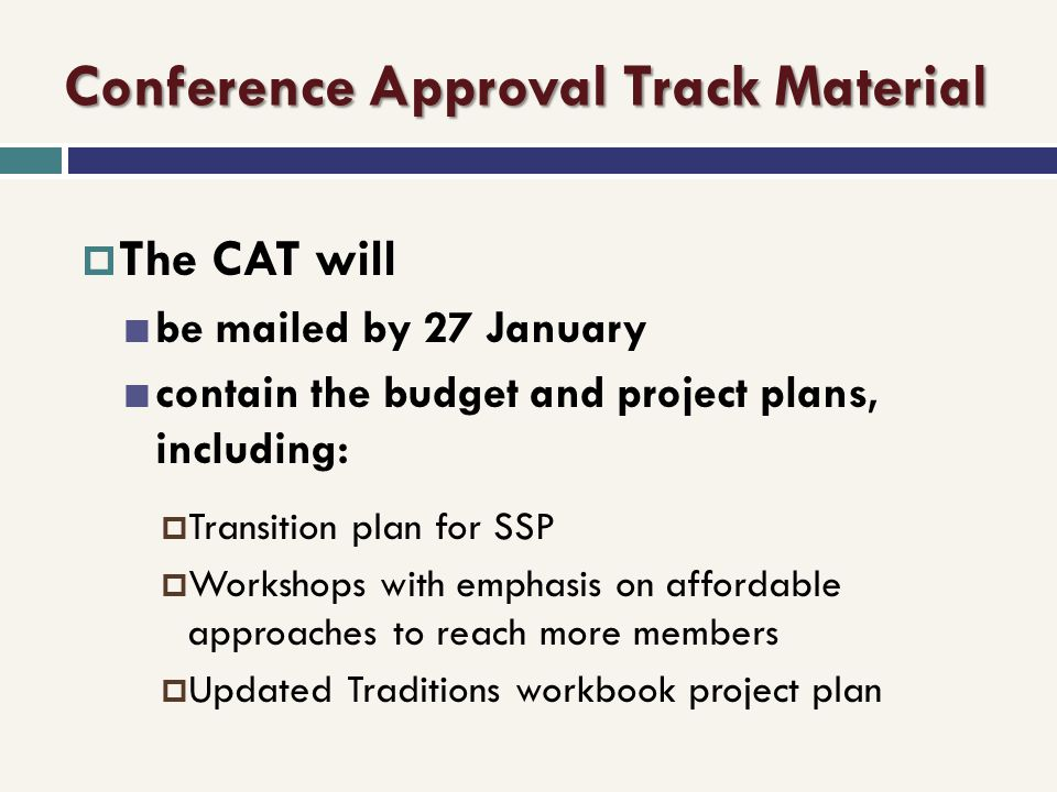Conference Approval Track Material
